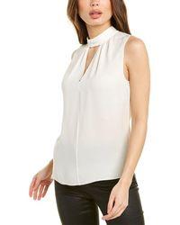 Theory Sleeveless Silk Top - White
