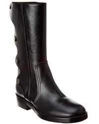 Dior Odeo Leather Boot - Black