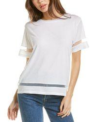 Chrldr Tulle Insert T-shirt - White