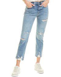 FRAME Denim Le Original Cascade Blue Rips Straight Leg Jean