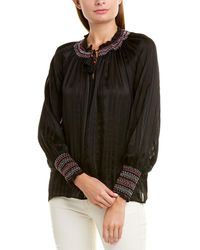 Johnny Was Silk Blouse - Black