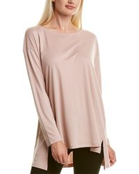 Eileen Fisher Dropped-shoulder Top - Pink