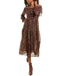 Pinko Hannah Abito Maxi Dress - Black