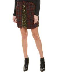 Rag & Bone Felicity Plaid Tie-waist Button Skirt - Multicolour