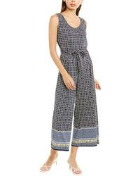 Max Studio V-neck Jumpsuit - Blue