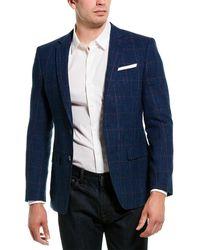 BOSS by Hugo Boss Hutsons4 Wool & Linen-blend Sportcoat - Blue