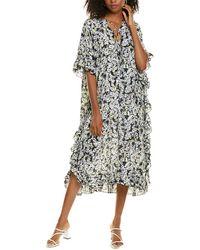 See By Chloé Silk-blend Maxi Dress - Black