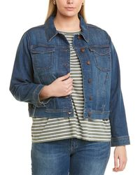 Eileen Fisher Plus Cropped Jean Jacket - Blue