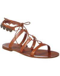 Dior Zodiac Leather Sandal - Brown