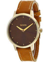 Nixon Kensington Leather Watch - Brown