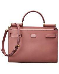 Dolce & Gabbana Sicily 62 Medium Leather Satchel - Pink