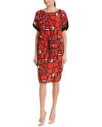 Nissa Drop Waist Dress - Red