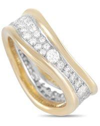 Heritage Tiffany & Co. Tiffany & Co. 18k 1.00 Ct. Tw. Diamond Curved Band Ring - Metallic