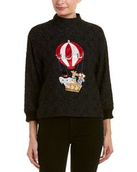 Dolce & Gabbana Gilt Edit Issue - Mixed Media Patch Blouse - Black
