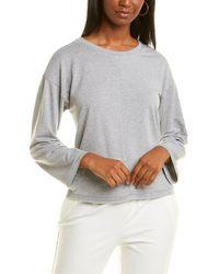 Jones New York Dropped-shoulder Sweatshirt - Grey