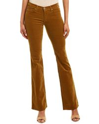 AG Jeans Angel Golden Olive Corduroy Bootcut - Brown