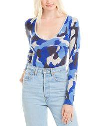 Madeleine Thompson Aphrodite Cashmere Bodysuit - Blue