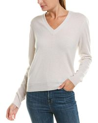James Perse - Classic Cashmere V-neck - Lyst