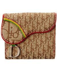 Dior Limited Edition Brown Rasta Saddle Wallet - Multicolor