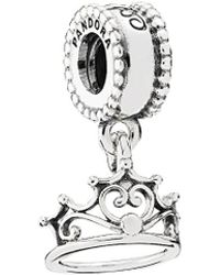 PANDORA - Disney Jewelry Collections Silver Ariel's Tiara Charm - Lyst