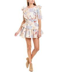 LoveShackFancy Natasha Mini Dress - White