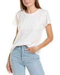 Velvet Heart Lightning Bolt T-shirt - White
