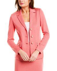 St. John Wool-blend Blazer - Pink