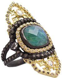 Armenta - Old World 18k & Silver 5.33 Ct. Tw. Diamond & Gemstone Doublet Ring - Lyst