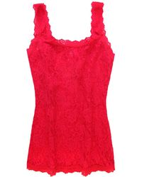 Hanky Panky Signature Lace Unlined Camisole - Red