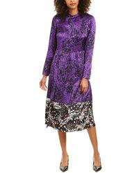 ESCADA Dillasa Silk Midi Dress - Purple