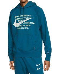 Nike Sportswear Swoosh Hoodie - Blue