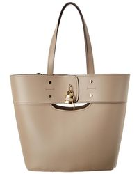 Chloé Aby Medium Leather Tote - Natural