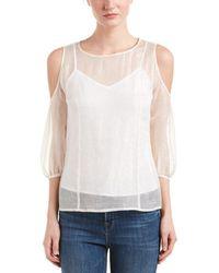 Maje Lella Silk-blend Top - White