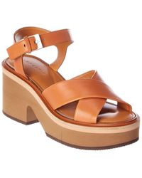 Clergerie Leather Sandal - Brown