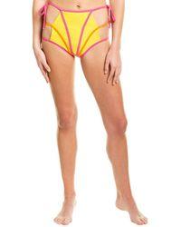 Andrea Iyamah Wasuki High-waist String Bikini Bottom - Multicolour