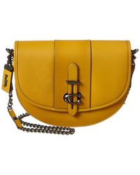 COACH Glovetanned Leather Saddle Bag 24 - Yellow