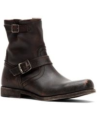 Frye Smith Engineer Leather Boots - Black