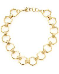 Ava & Aiden Link Statement Necklace - Metallic