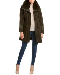 Trina Turk Whitney Wool-blend Coat - Green