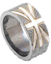 Stephen Webster Men's Silver Onyx Ring - Metallic