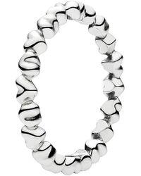 PANDORA Knotted Hearts Ring - Metallic