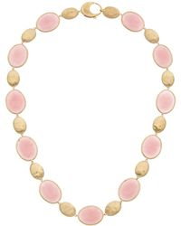 Marco Bicego Siviglia 18k Rose Quartz Collar Necklace - Metallic