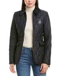 Burberry Monogram Quilted Jacket - Blue