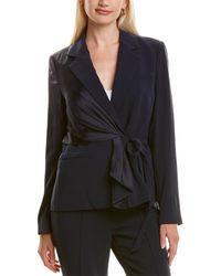 Diane von Furstenberg Lucina Stretch-crepe Belted Blazer - Blue