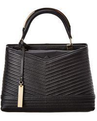 Vince Camuto Blu Leather Satchel - Black