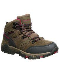 BEARPAW Corsica Suede-trim Hiking Boot - Grey