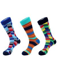 Unsimply Stitched 3pk Crew Socks - Blue