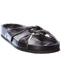IRO Knoty Leather Slide - Black