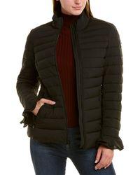 Tahari Short Down Coat - Black