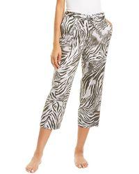 Natori Zebra Print Sateen Pant - Black